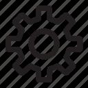cogwheel, configuration, gear, options, settings icon