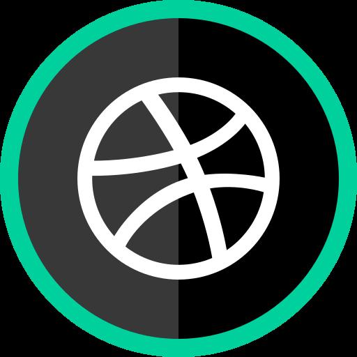 dribbble, logo, media, online, social icon