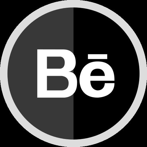 behance, logo, media, online, social icon