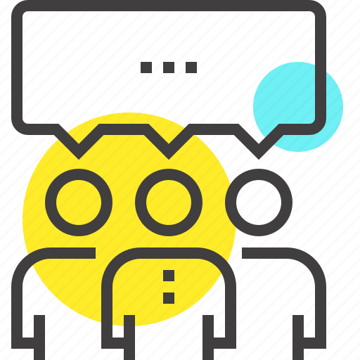 communication, conversation, group, media, network, people, social icon