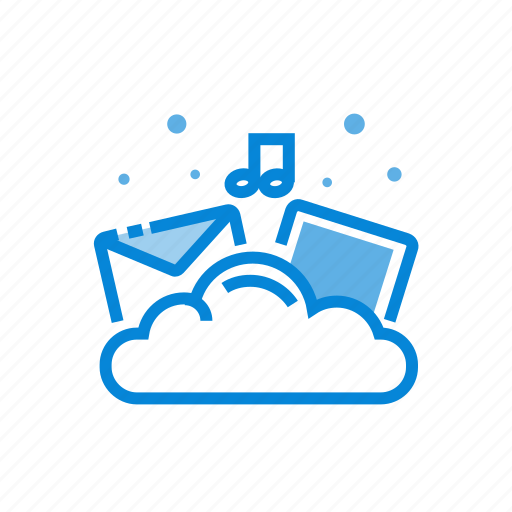 cloud, documents, files, images, storage icon