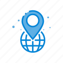 location, navigation, place, pointer icon