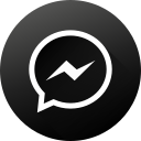 black white, gradient, long shadow, media, messenger, social, social media icon