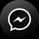 black white, gradient, long shadow, media, messenger, social, social media