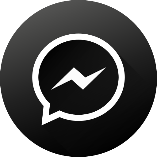 Black white, gradient, long shadow, media, messenger, social, social media icon - Free download