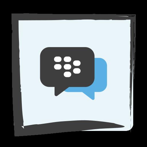 bbm, blackberry messenger, media, social icon