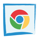 chrome browser, media, social icon
