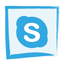 media, skype, social icon