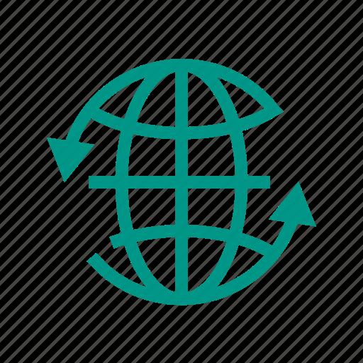 around, earth, globe, internet, social, world, www icon