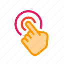 click, clicking, coursor, entering, knob, link, pressing icon