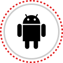 android, logo, social icon