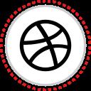 dribbble, logo, social icon