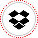 dropbox, logo, social icon