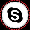 logo, skype, social icon