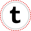 logo, social, tumblr icon