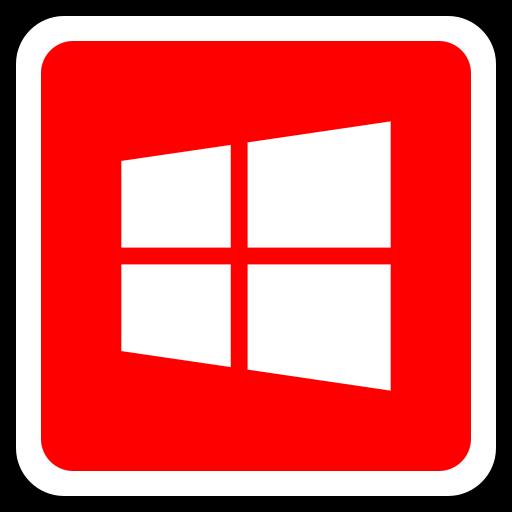 media, social, window icon