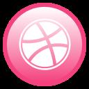 dribbble, community, network icon