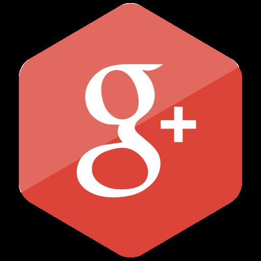 colored, google plus, hexagon, high quality, media, social, social media icon
