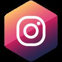 social media, colored, media, high quality, social, hexagon, instagram