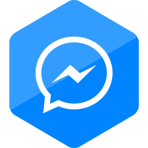 colored, hexagon, high quality, media, messenger, social, social media icon