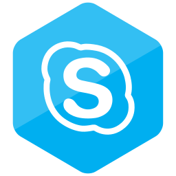 colored, hexagon, high quality, media, skype, social, social media icon