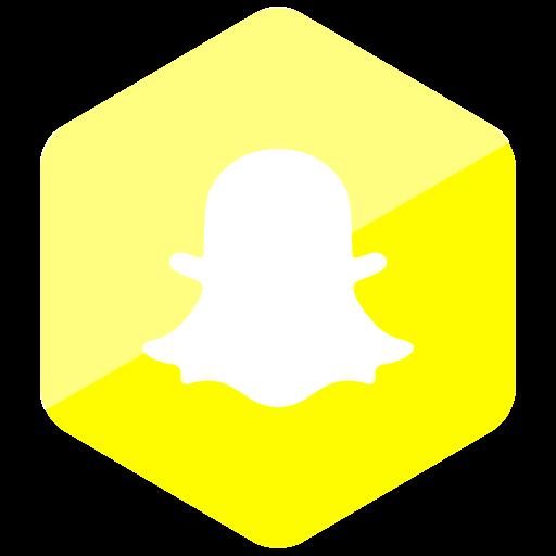 colored, hexagon, high quality, media, snapchat, social, social media icon