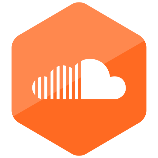 colored, hexagon, high quality, media, social, social media, soundcloud icon