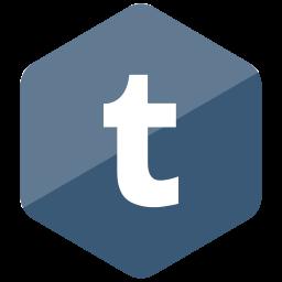 colored, hexagon, high quality, media, social, social media, tumblr icon