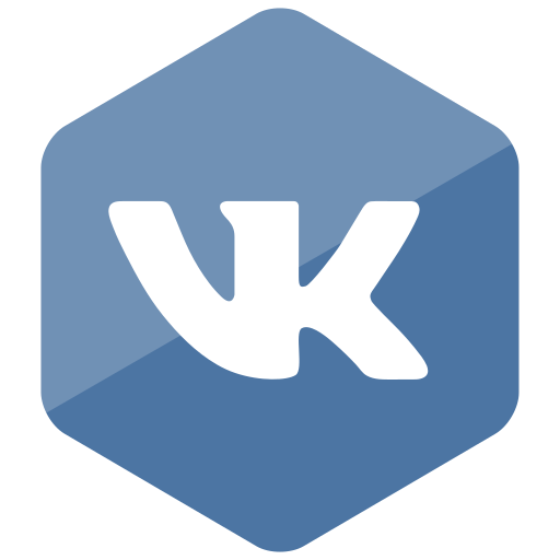 colored, hexagon, high quality, media, social, social media, vk icon