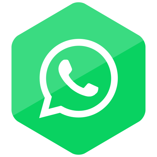 colored, hexagon, high quality, media, social, social media, whatsapp icon