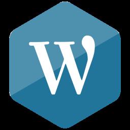 colored, hexagon, high quality, media, social, social media, wordpress icon