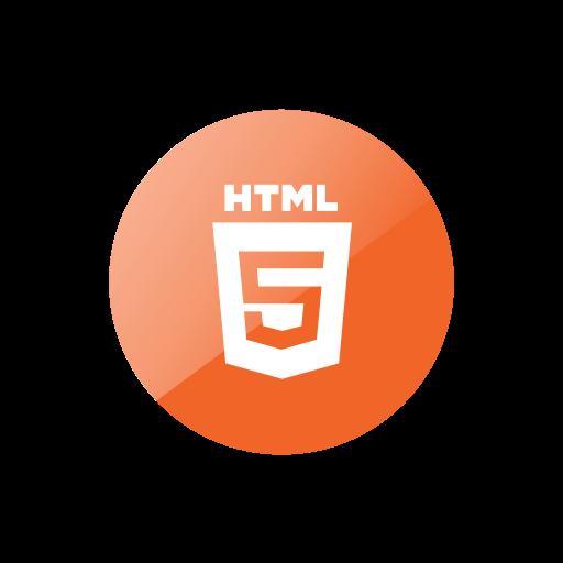 circle, html 5, language, script, website icon