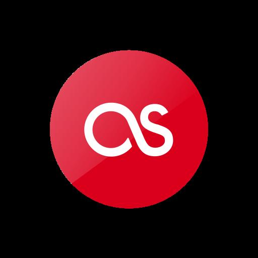 last.fm, lastfm, media, red, social, web icon