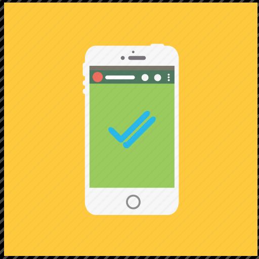 check, communication, good, phone, read, social, whatsapp icon