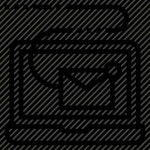 digital, email, marketing, newsletter, sending icon