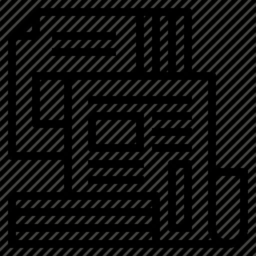 content, magazine, media, news, newspaper, print, publication icon