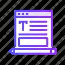 blogging, seo, services, web icon