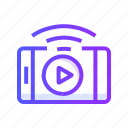 live, multimedia, streaming, video icon