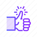direction, favorite, like, thumb, up icon