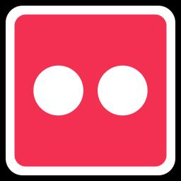 flickr, media, online, social icon