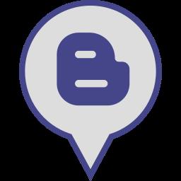 blogger, logo, media, pin, social icon