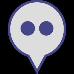 flickr, logo, media, pin, social icon