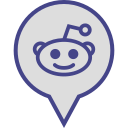 logo, media, pin, reddit, social icon