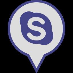logo, media, pin, skype, social icon