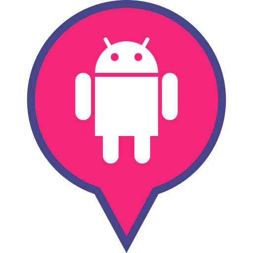 android, logo, media, pin, social icon
