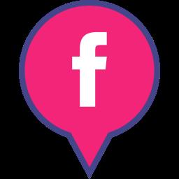 facebook, logo, media, pin, social icon