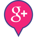 google, logo, media, pin, plus, social icon