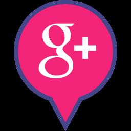 google, logo, media, pin, plus, social icon
