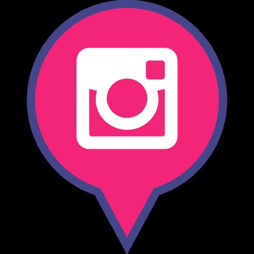 instagram, logo, media, pin, social icon