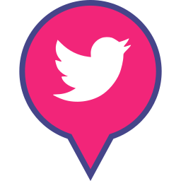 logo, media, pin, social, twitter icon